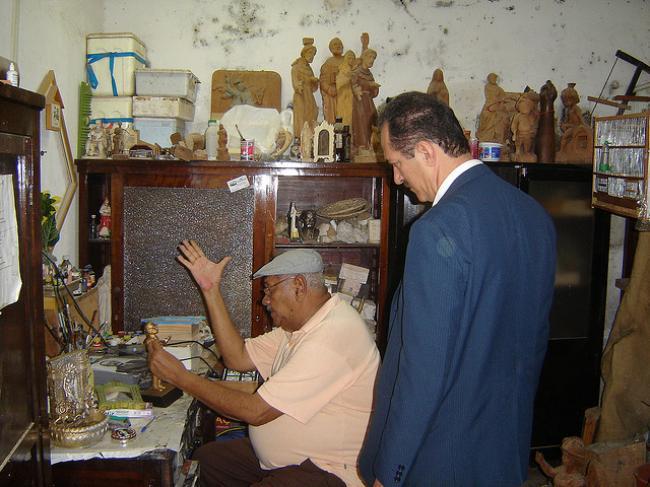 Mestre Deodato era um apaixonado pela arte. (Foto: álbum de Aldo Rebelo)