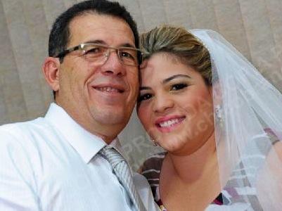 Engenheiro João Lopes e sua filha Lívia Alana.
