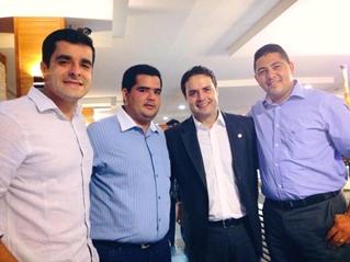 Comitiva alagoana com o deputado federal Renan Filho