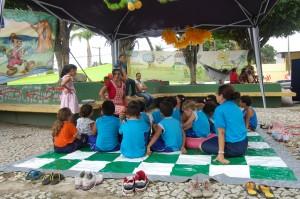 Evento atraiu centenas de crianças à praça