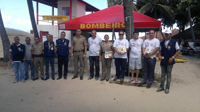 Representante de diversos órgãos participaram da campanha. (foto: André do MN)
