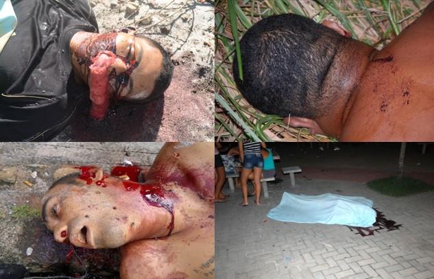 Imagens de 4 dos 21 assassinatos já registrados em Marechal Deodoro no ano de 2013.