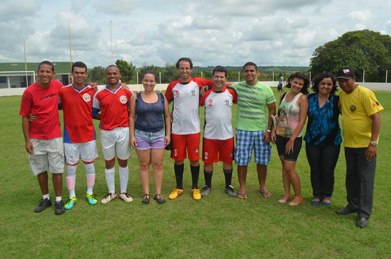 Representantes das várias associações presentes no torneio