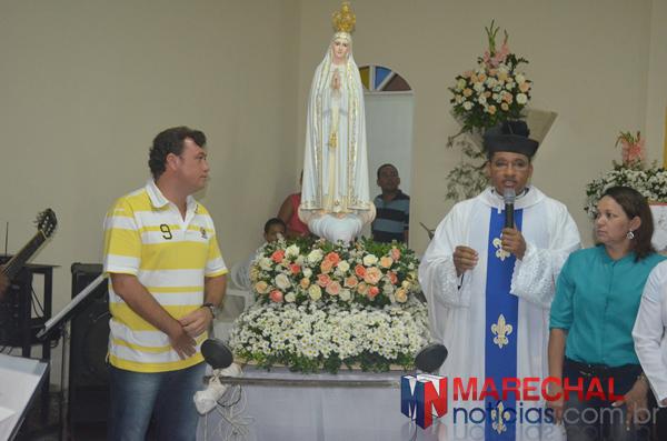 Prefeito Cristiano Matheus também participou do evento religioso.