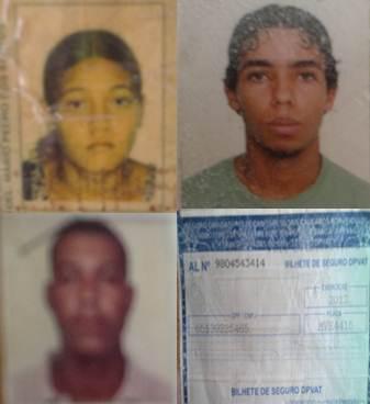 Algumas das pessoas que tiveram seus documentos perdidos.