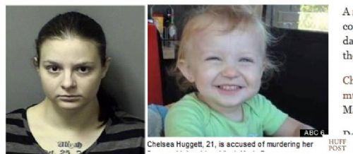 Grávida de oito meses, Chelsea Huggett confessou ter matado a filha de dois anos esmagando a cabeça da criança (Foto: Reprodução/huffingtonpost)