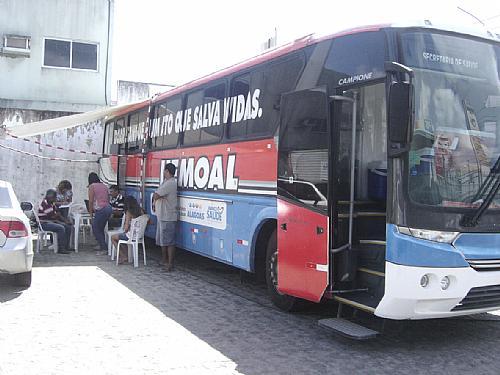 Ônibus estará´na cidade de Marechal Deodoro amanhã.