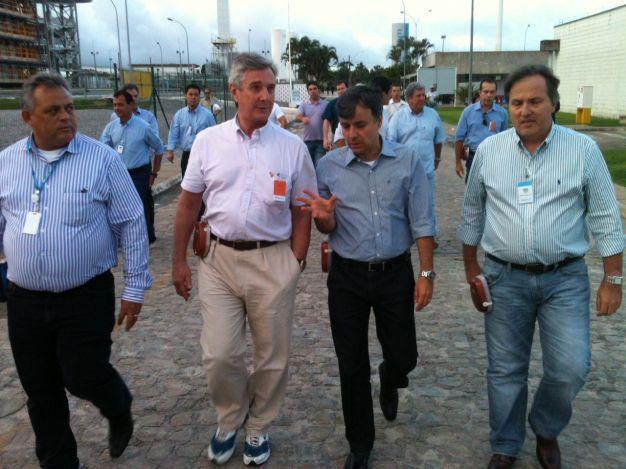Senador Fernando Collor de Mello em visita a Braskem (Foto: Jobison Barros)