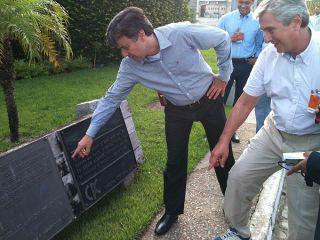 Senador Fernando Collor de Mello visitou a quarta planta da Braskem (Foto: Jobison Barros)