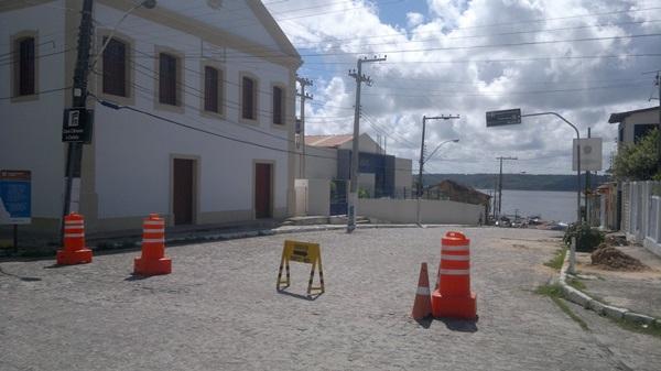 Rua da Matriz próximo a antiga cadeia pública. (foto: André do MN)