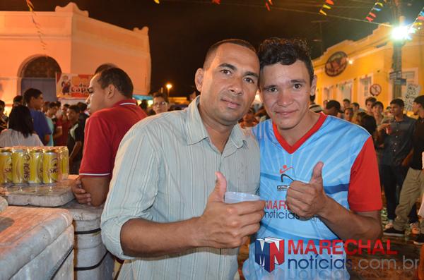André do MN ao lado do colaborador Gabriel Santos. (foto: André Moabson)