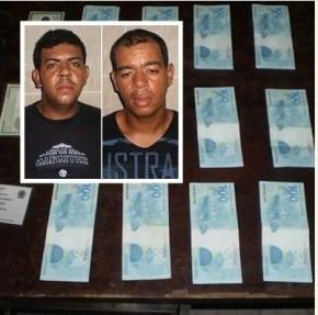 Rafael Tenório e Erivaldo dos Santos foram presos após serem denunciados (Cortesia/3ªCia/11ºBPM)