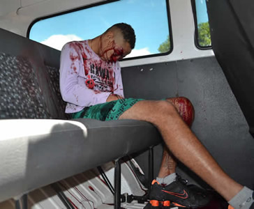 Interno foi assassinado dentro do carro do CEA. (foto: Folha do Sertão)