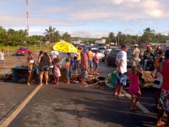 Protesto acontece após o registro de mais um acidente. (foto: Sandro Quintela)