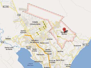 Bairro da parte alta de Maceió pode virar município da Região Metropolitana (Foto: Google Maps)