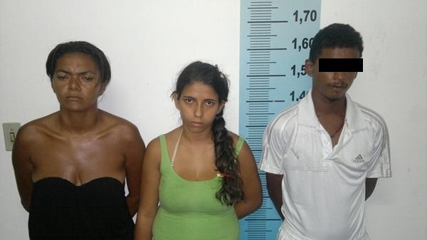 Entre os acusados temos duas mulheres e um menor de idade.