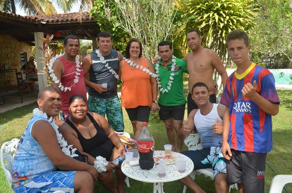 Confraternização reuniu os funcionários da escola Altina Ribeiro.