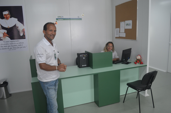 Damião Messias recebeu o MN na UPA Irmã Dulce.