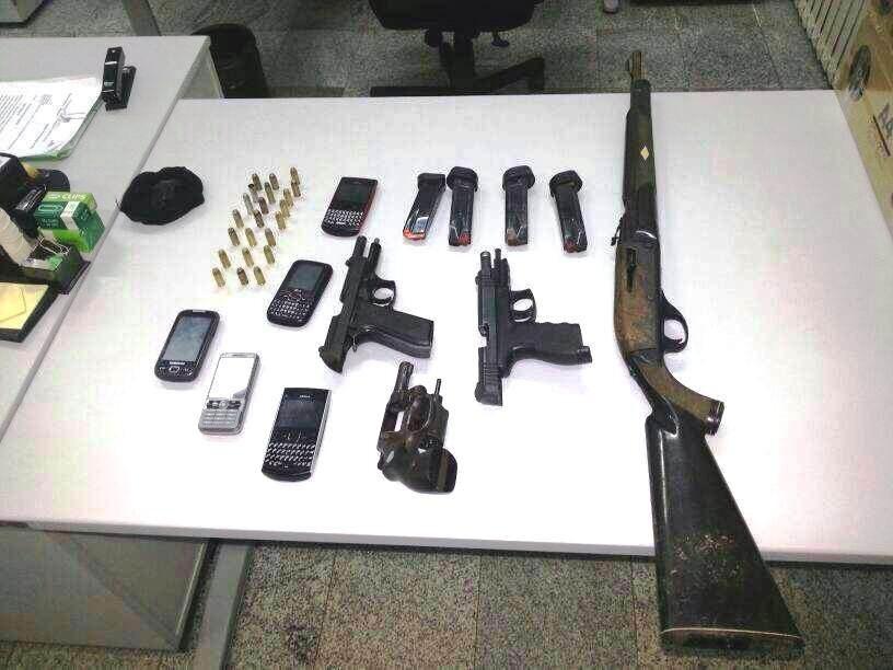 Armas roubadas do GPM de Porto de Pedras.
