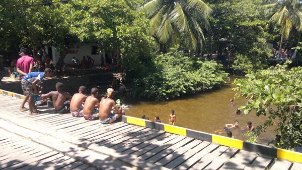 Captação irregular das águas prejudica diretamente a vazão do Rio Niquim.