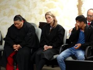 Rosineide, a 'Neidinha' (esq.), e Hornella Giurizatto foram condenadas (Foto: Nívio Dorta/G1)