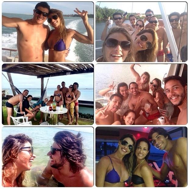 Dany Bananinha com Mariano e amigos (Foto: Reprodução/ Instagram)