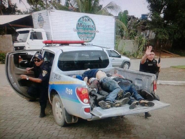 Oito foram mortos no confronto com a PM. (foto: Rondônia Vip)