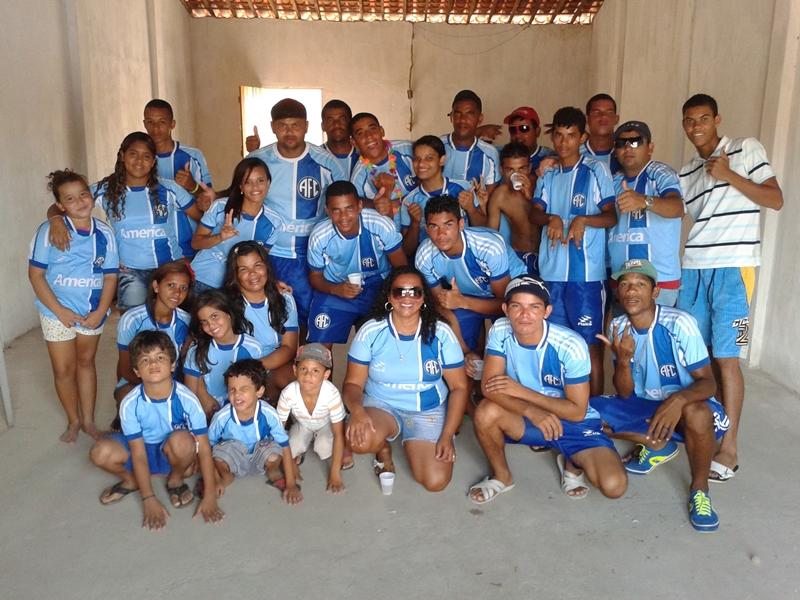 Equipe do América, durante festa de confraternização.