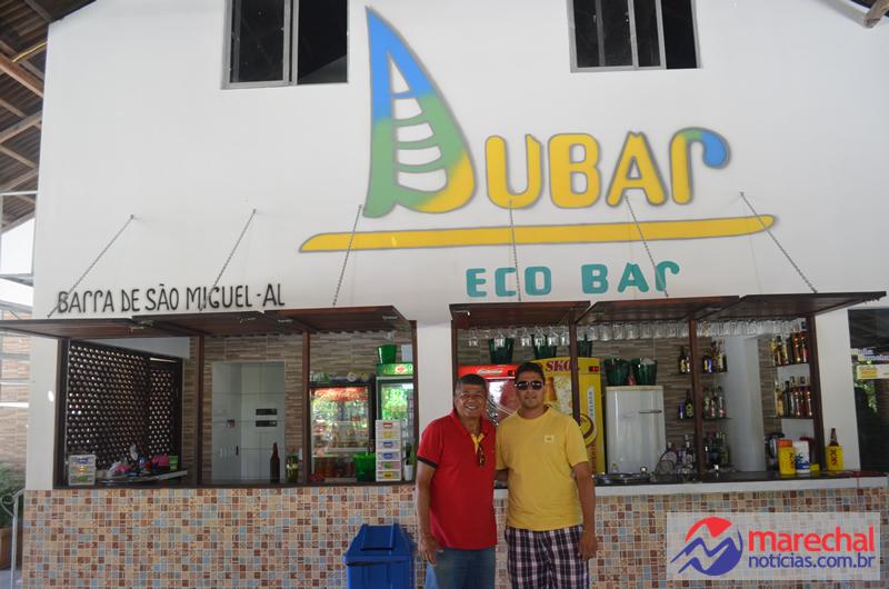 Empresários Marcelo Moringa e Fera, no novo empreendimento comercial da Barra.