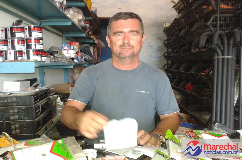 Empresário Márcio, da Casa da Construção, mais um parceiro MN.