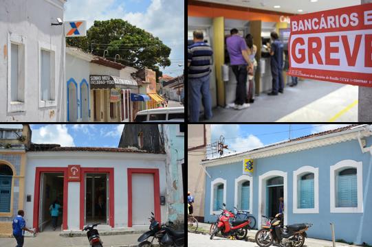 Agência do BB, Caixa e Bradesco na cidade de Marechal Deodoro.