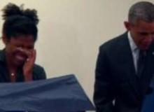 Aia Cooper, votava na urna ao lado do presidente