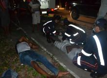Vítimas foram socorridas para o HGE. (foto: Sandro Quintela)