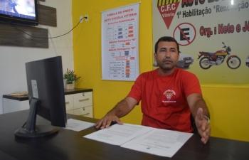 Nossa equipe ouviu as explicações do empresário Neto da Autoescola Vitória.