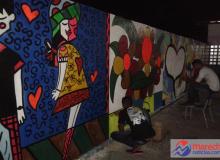 Arte do grafite deu vida nova e agradou a todos.