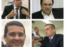Fábio Farias, Luciano Barbosa, Alfredo Gaspar de Mendonça e Christian Teixeira (Foto: Reprodução/Facebook)