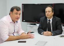 Prefeito Cristiano Matheus se reuniu com representantes da CEF.