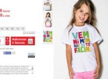 Estampa de camiseta infantil causa polêmica