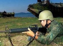 Treinamento da Marinha (Foto: G1)