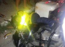Motociclista foi alvejado com três disparos de arma de fogo (Foto: Cortesia)