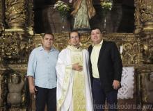 Deputado Inácio Loiola, Padre Edvan e o prefeito Cristiano Matheus.