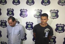 Suspeitos foram apresentados durante coletiva na Polícia Civil (Foto:Rafael Maynart)