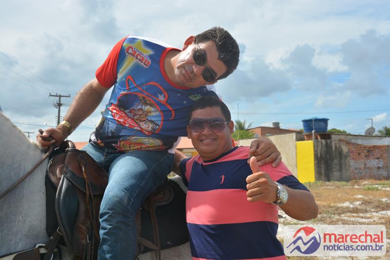 Nilson Cabeção e Gago Lopes, colaboradores da cavalgada.