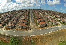 Vista aérea do residencial Gislene Matheus. (Foto: Ascom)