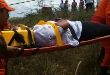Vítima foi atendida por equipes do Samu e CB