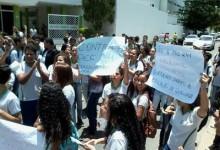 Estudantes em protesto no Ifal