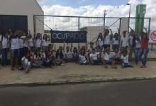 Estudantes protestam contra a PEC 241 e a reforma do Ensino Médio.